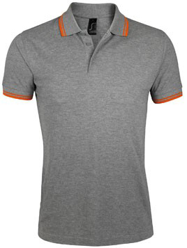 PASADENA MEN Ανδρικο Πολο Πικε 00577 Sols - Grey melange/Orange-932